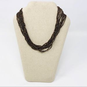 """Silpada Bronze Brown Seed Necklace N1815 18"""""""